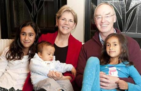 Warren and Mann and their three grandchildren. They baby-sit enough to describe the children's unique personalities, even though the children live in California.